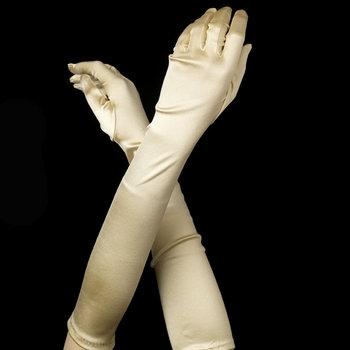 Satin Gloves - Light Gold