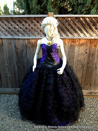 Ursula Sea Witch Costume Corset Gown Couture v.2