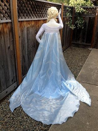 Elsa Frozen Snowflake Cape (CAPE ONLY)