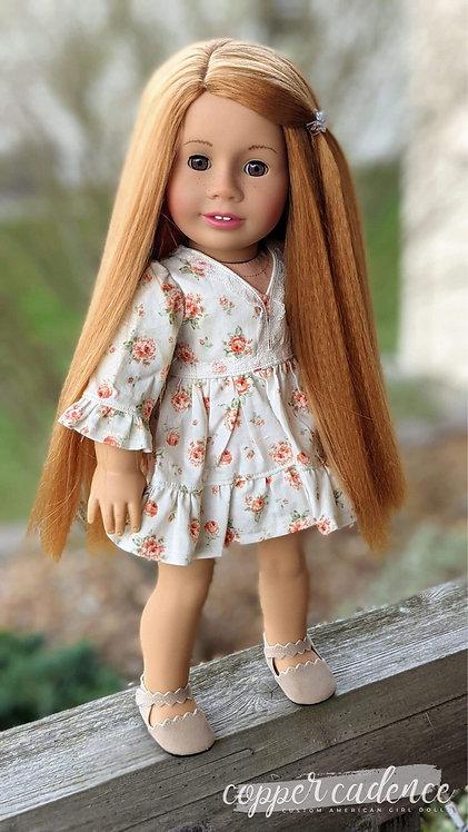 "Keisha Textured Hair in Strawberry Blonde 11"""