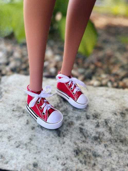 Sneakers in Red for 1/3 BJD Smart Doll