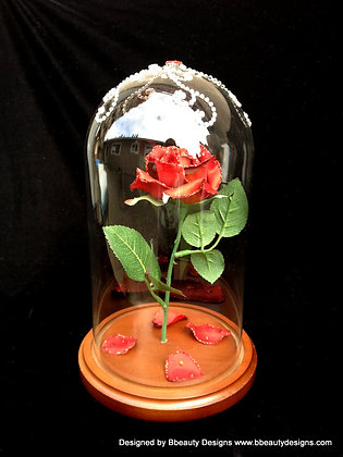 Belle Beauty and the Beast Magical Rose Prop