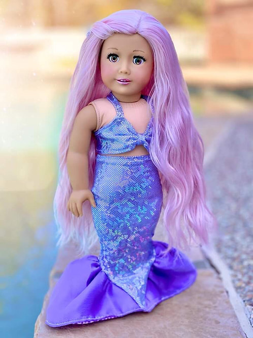 Lavender Holographic Mermaid Outfit