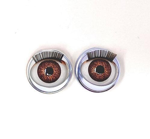 Premium Eyes Speckled Brown