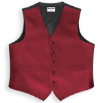 Royal Groomsmen Luxury Satin Vest Apple