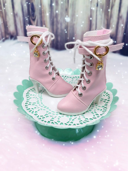 Fashion Calf Boots in Candy Pink