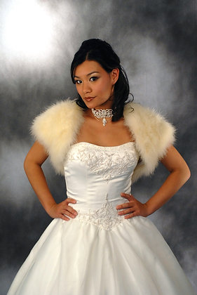 Feather Marabou Bridal Bolero