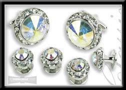 Royal Prince Crystal Cufflink & Stud Set Prism