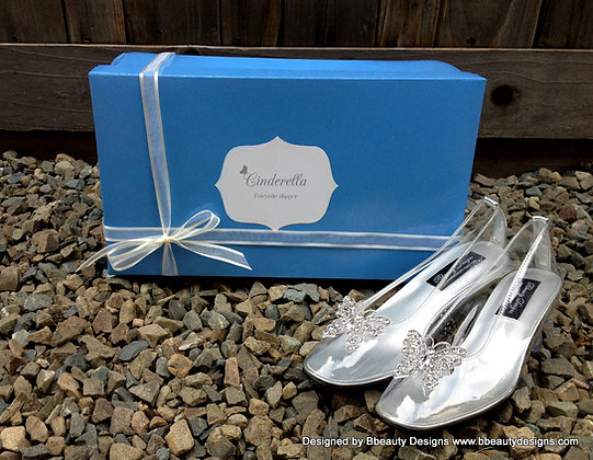 Cinderella 2015 Butterfly Glass Slipper Shoes