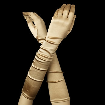 Satin Gloves - Champagne