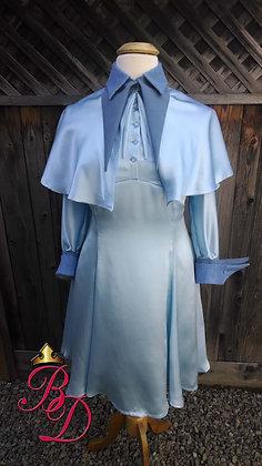 Fleur Delacour Beauxbaton Uniform Dress Cape Silk