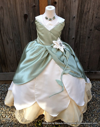 Tiana Princess Lily Dress Gown Child Costume