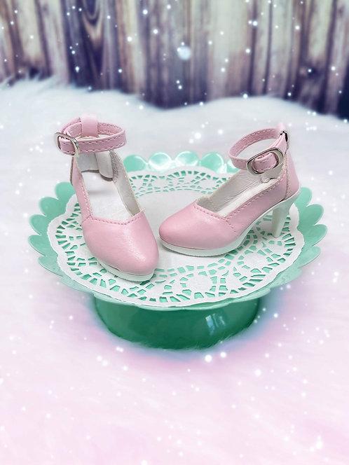 Dressy Vintage Pumps in Candy Pink
