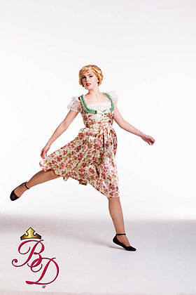 """German Dirndl  """"English Rose"""" Costume"""