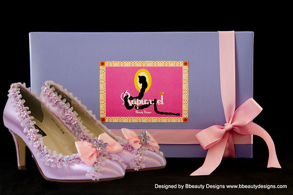 Rapunzel Tangled Bridal Shoes Heels