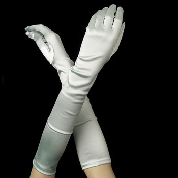 Satin Gloves - Mint