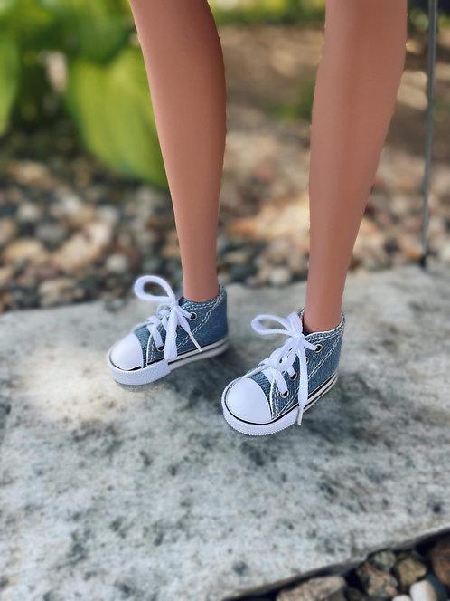 Sneakers in Denim for 1/3 BJD Smart Doll