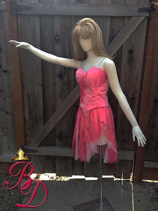 Cinderella on Ice Pink Ruined Adult Costume