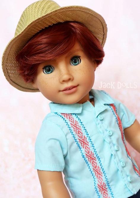"Jamie Unisex Wig in Auburn 11"""