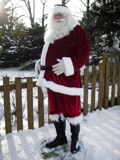 Santa Suit A Adult Costume Men Deluxe Custom Made