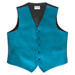 Royal Groomsmen Luxury Satin Vest Caribbean Blue