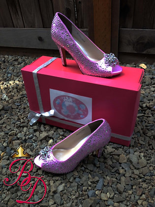 Glinda Pink Crystal Good Witch Shoes