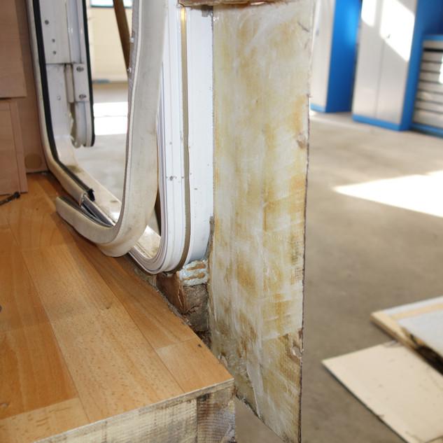 Das verfaulte Holz wurde herausgeschnitten.