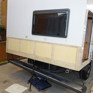 Das Teilstück ist eingebaut und bereit für die Verklebung vom Blech.
