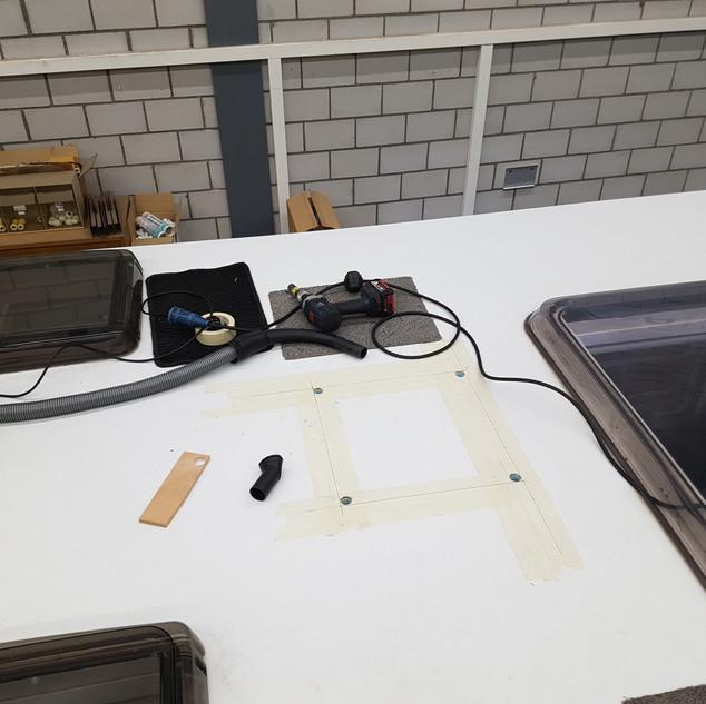 Neuen Dachhaubenausschnitt ausmessen, anzeichen ...
