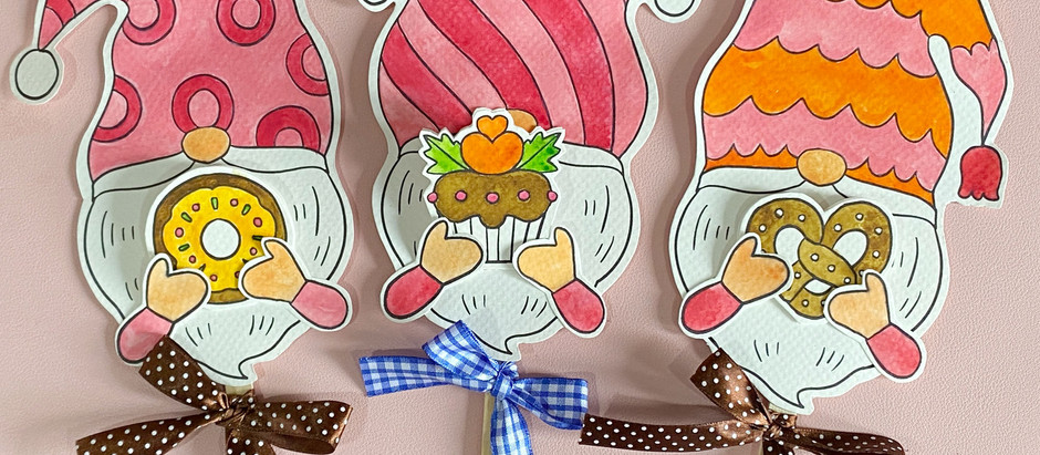 Merry DIY : Cute Gnome Gift Cards