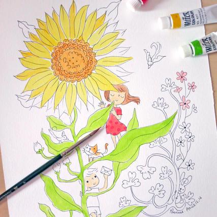 Merry coloring workshop