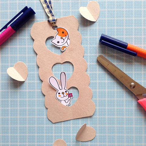 Heart Window Merry Bookmark