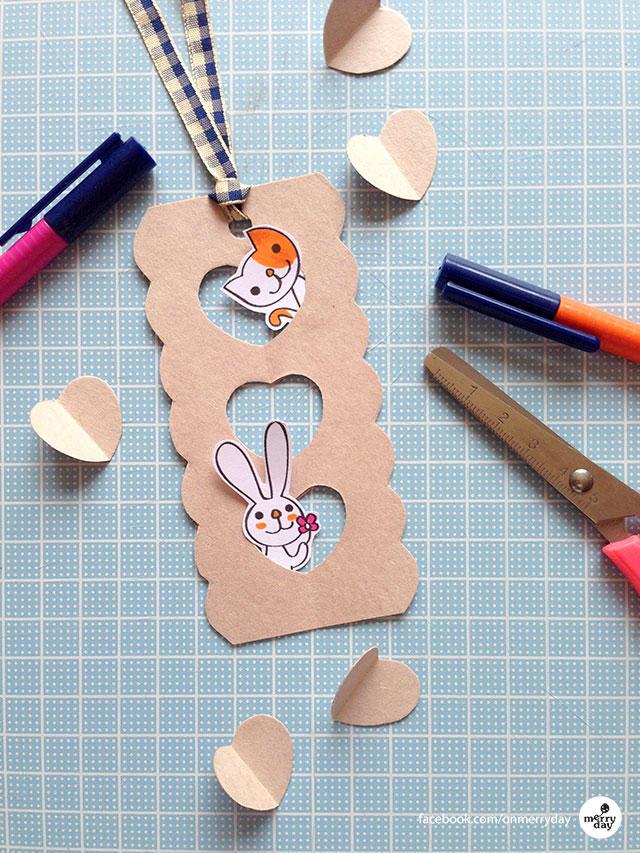 Heart Window Merry Bookmark