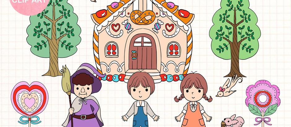 Fairy tale clip arts cute illustration for sale now