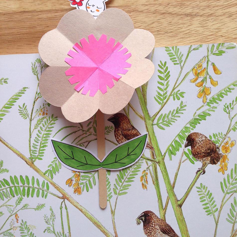 Blooming Flower Merry Bookmark