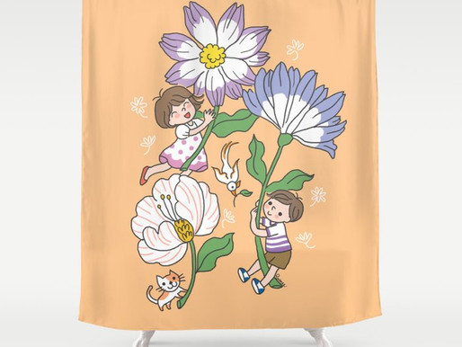 My merry shower curtain on Society6