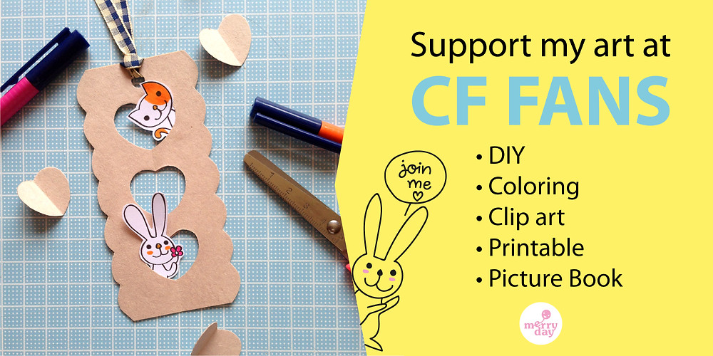 Cute DIY clip art and printable for mom and kids