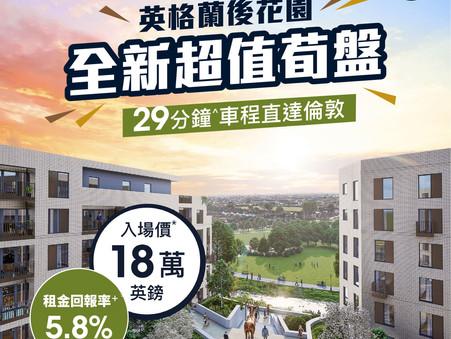 👋🏻上車唔一定要喺香港!英國東南部市郊新樓只售18萬鎊起 🌳