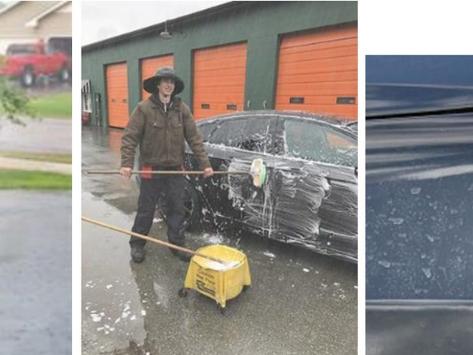 英國家居環保另類法門 -  雨中洗車