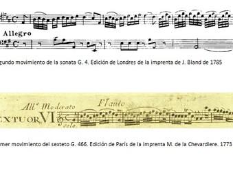 Boccherini, la sonata para violoncello G 4 y el sexteto G 466.
