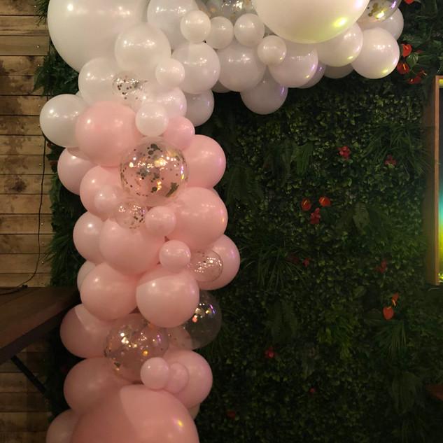 Pink and White Garland