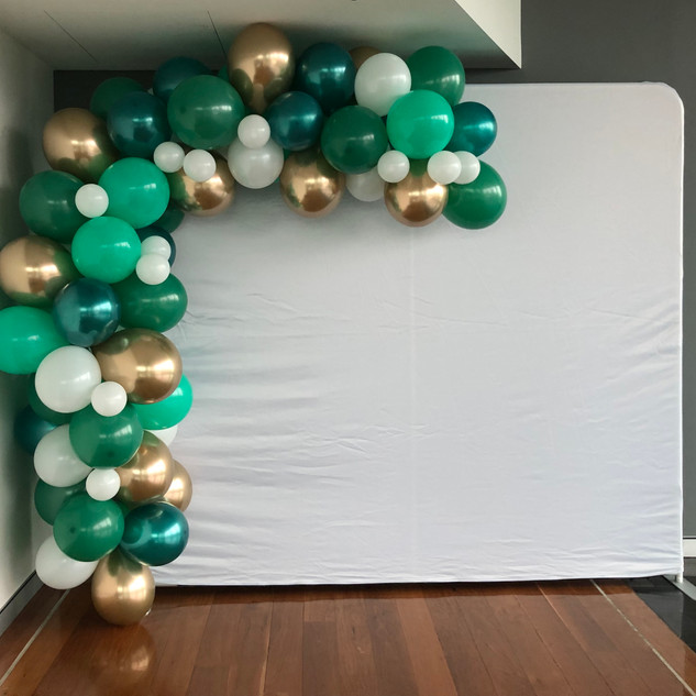 Green and Gold Balloons
