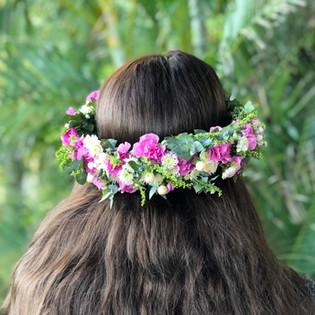 Pink Brisbane Flower Crown