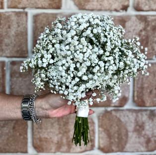 babies breath/gyp wedding bouquet