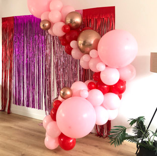 Pink, Red and Rose Gold Balloons