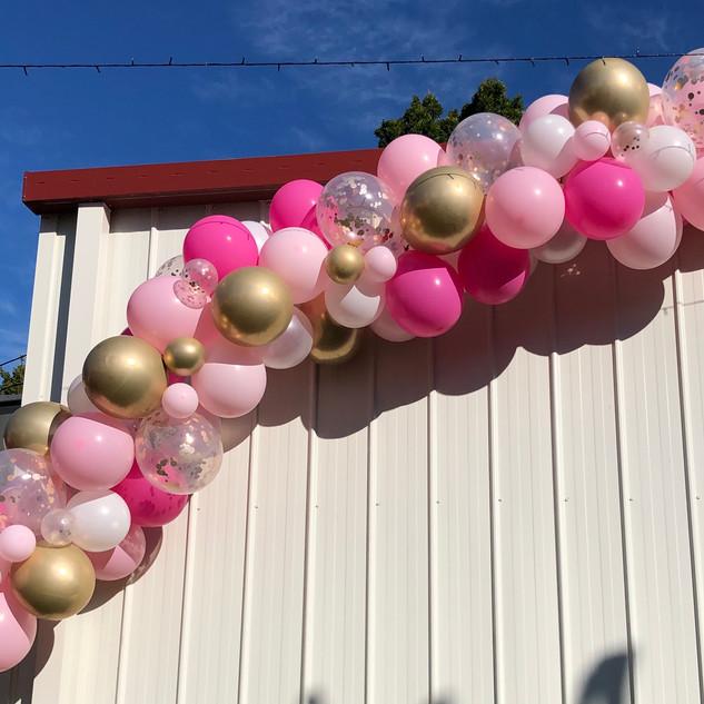 Pink and Gold Balloon Garland