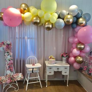 first birthday balloon garland