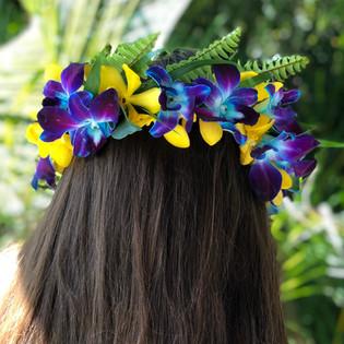 tropical, hawaiian flower crown