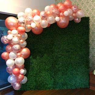 rose gold balloon garland