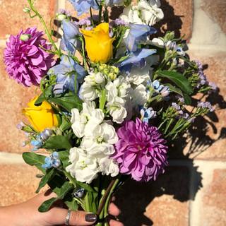 wildflower bridesmaid bouquet